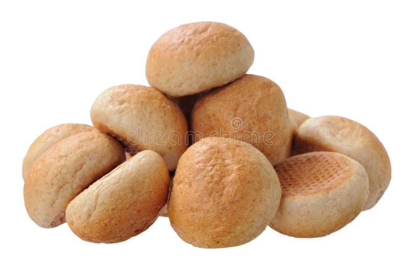 Round chleby odizolowywający na bielu obraz royalty free