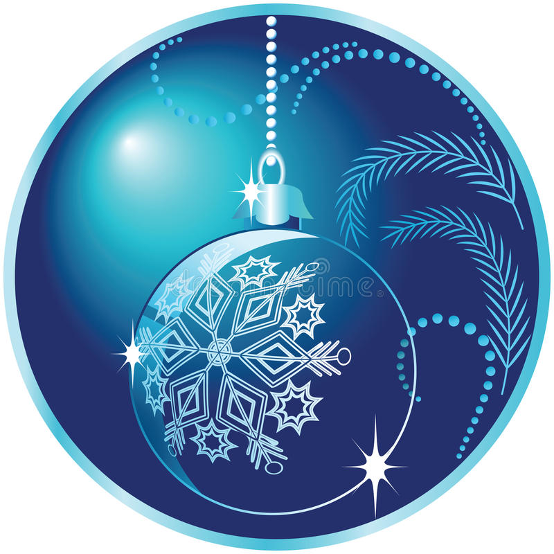 Round Christmas background with ball royalty free stock images