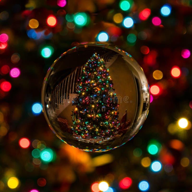 Round Christmas decoration stock images