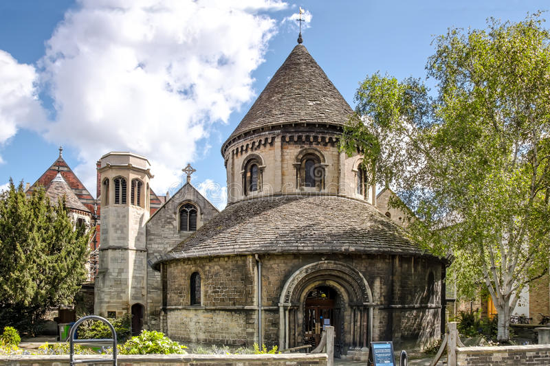 The Round Church of Holy Sepulchre, Cambridge. View of Round Church of Holy Sepulchre in Cambridge, UK. It was built about 1130 stock photography