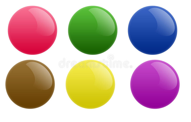 Download Round Circle Buttons stock illustration. Image of rounded - 10757735