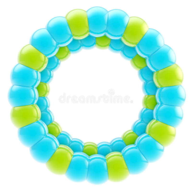 Round circle colorful frame isolated stock images