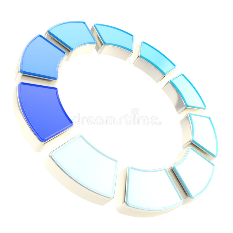 Download Round Circle Frame Made Of Ten Segments Isolated Stock Image - Image: 26507521