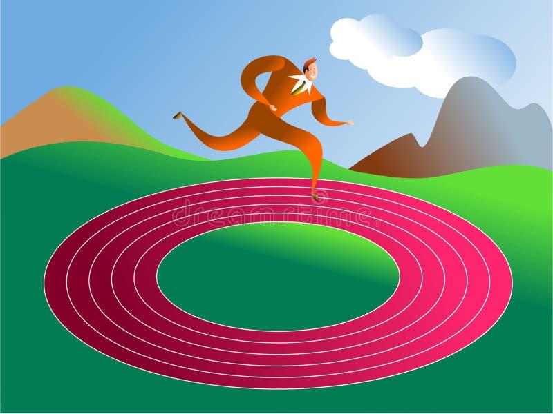 Round in circles stock illustration