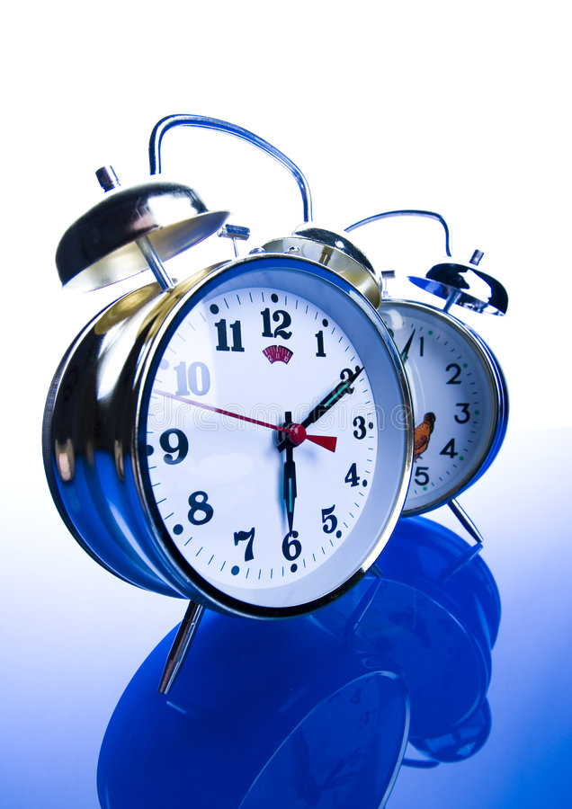 Round clock royalty free stock image