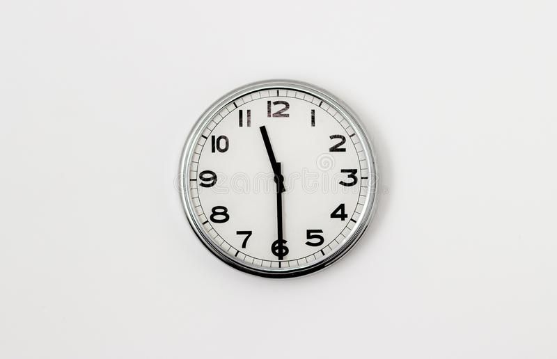 Clock 11:30. Round clock face displaying half past 11 stock image