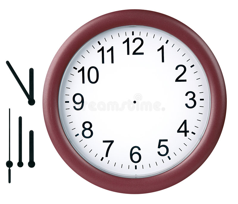 Download Round clock isolated stock illustration. Illustration of isolated - 468756