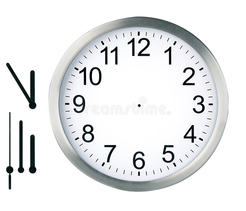 Round clock isolated royalty free stock photography