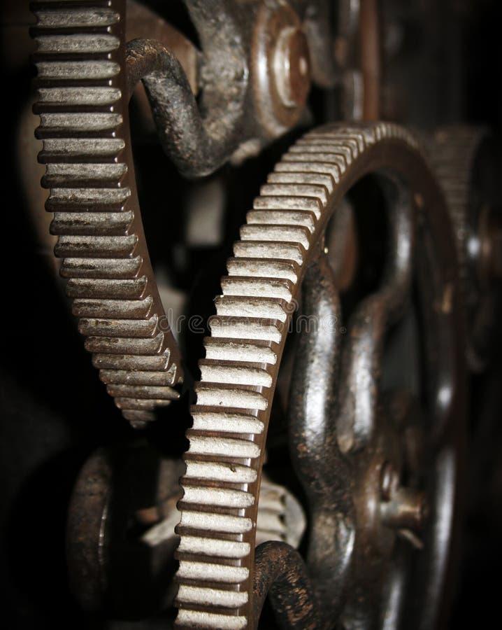 Round cogged wheels stock image