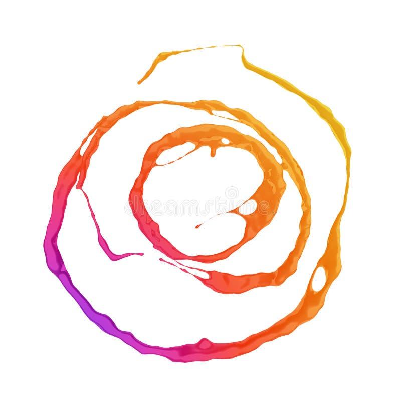 Round colorful circular paint splash vector illustration