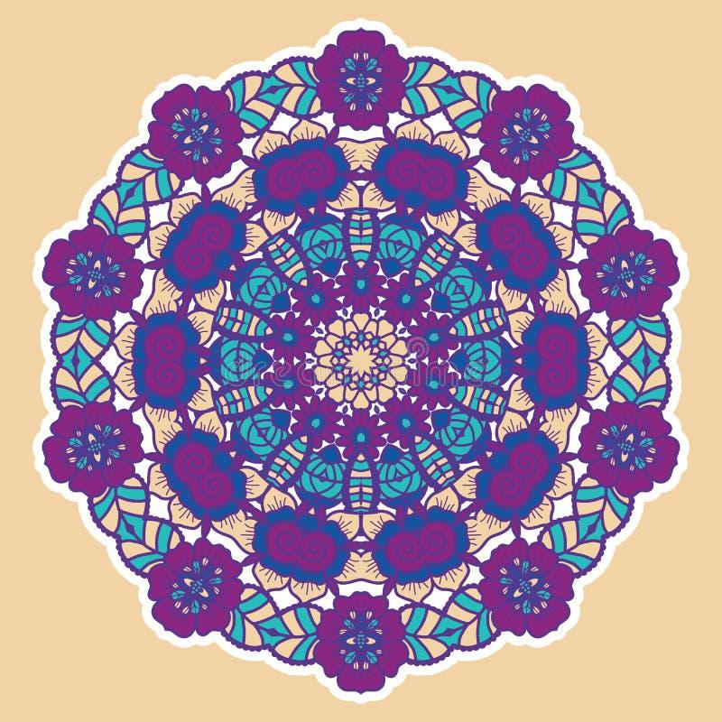 Round colorful mandala. Round colorful mandala design. Creative vector illustration vector illustration