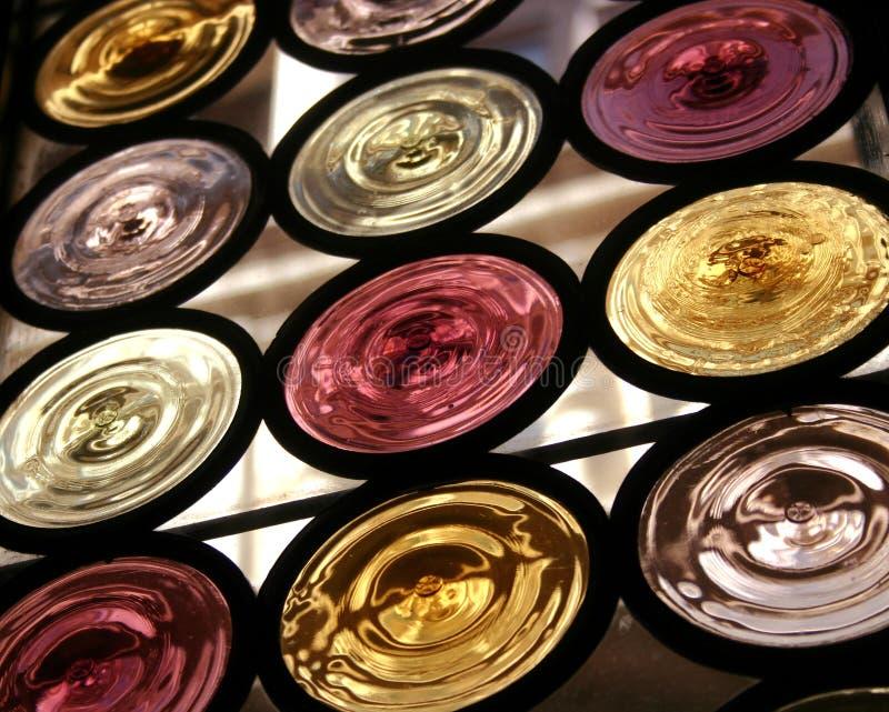 Round coloured windows Venice stock photos