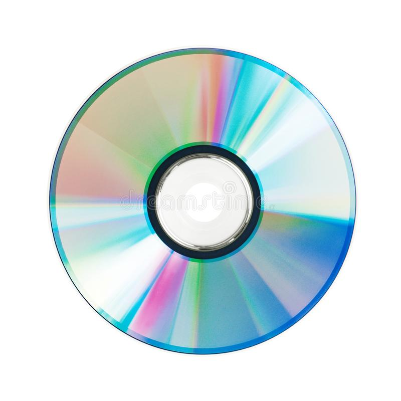 Round compact disc lies on a white background stock photography