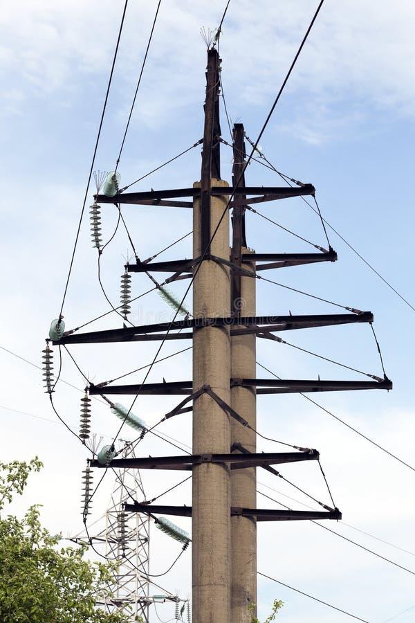 round concrete poles stock photography