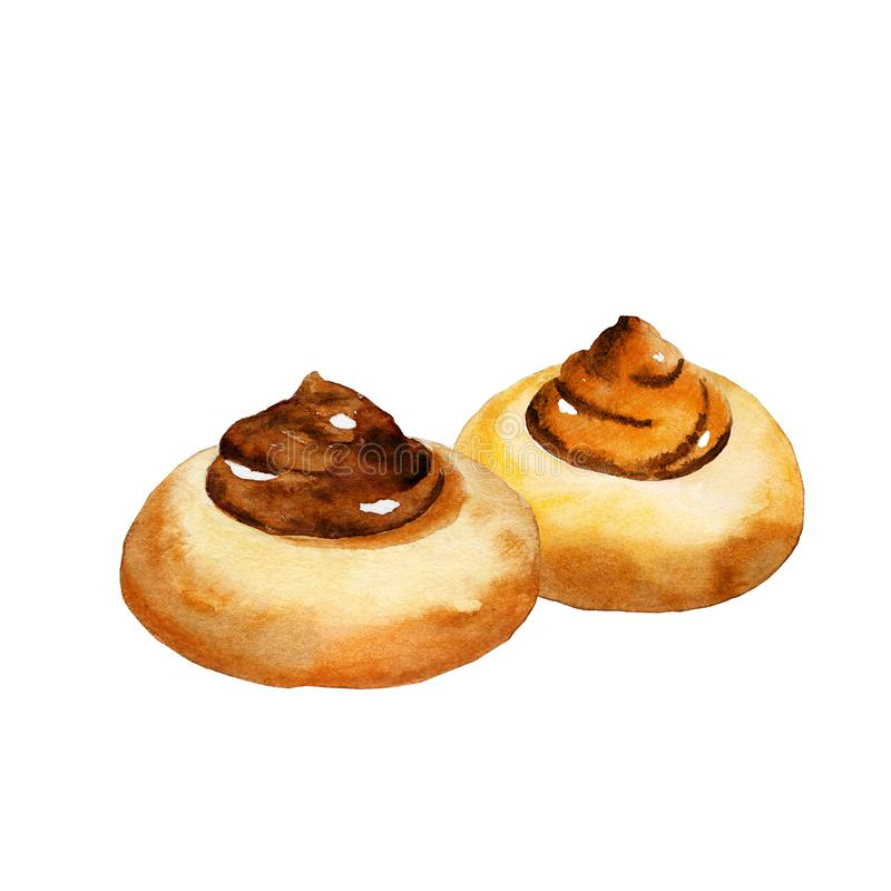 Round cookies royalty free illustration