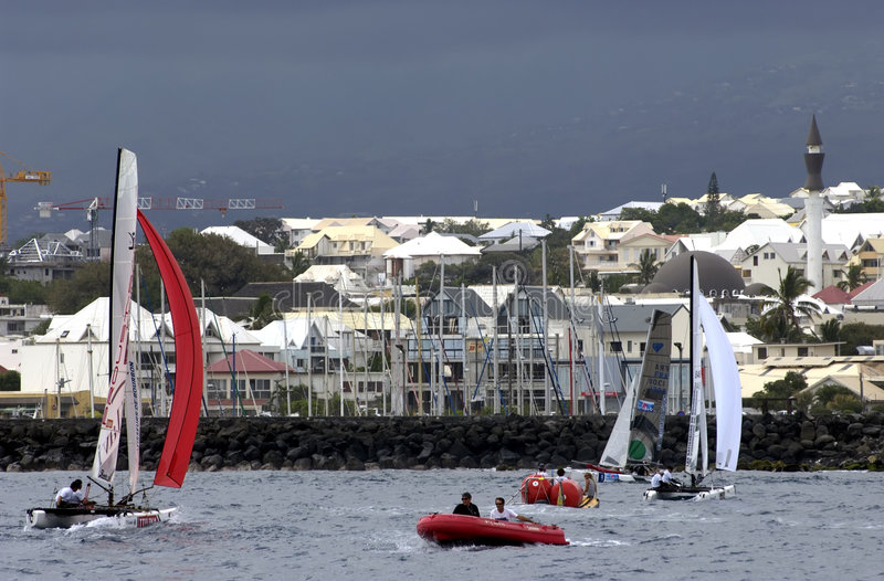 Download Round Creolia Race - Reunion Island Editorial Stock Photo - Image of multihull, boat: 7145598