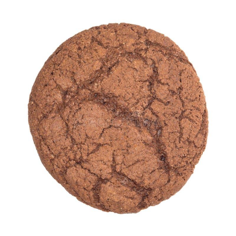 Round czekoladowy ciastko zdjęcie stock