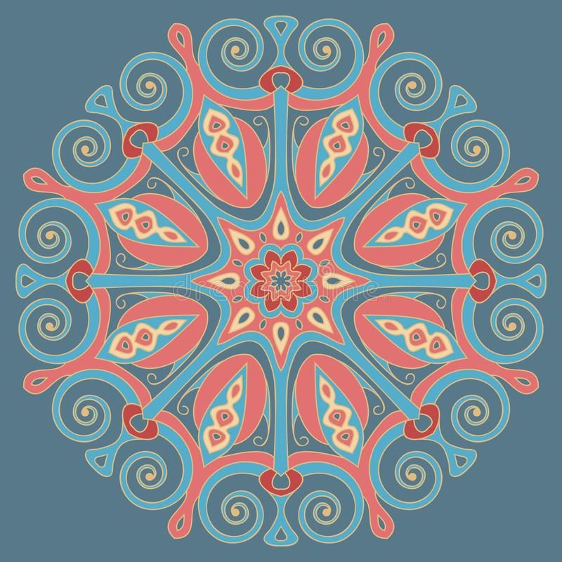 Round decorative element. vector illustration
