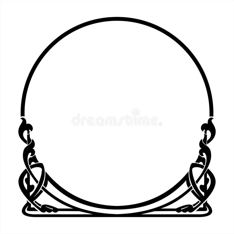 Round Decorative Frame In The Art Nouveau Style Stock Vector ...