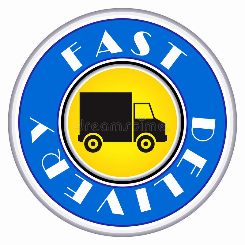 Round delivery icon stock illustration