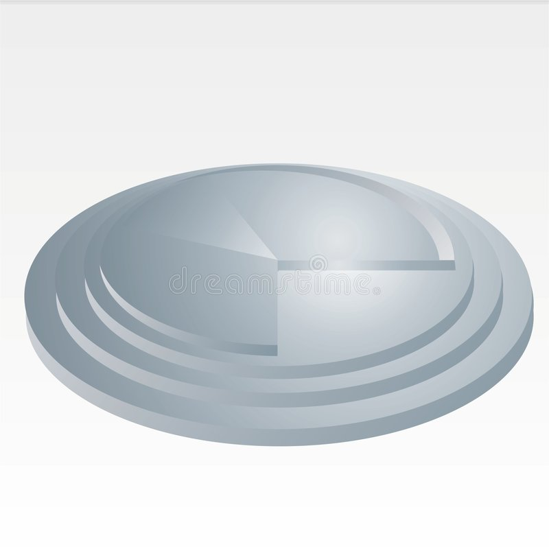 Round Diagram. Vector illustration: grey Round Diagram royalty free illustration