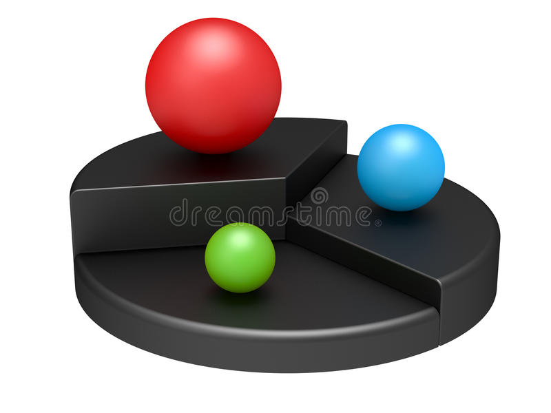 Download Round diagram with spheres stock illustration. Illustration of concept - 22528902