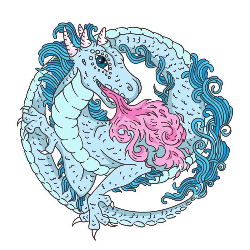 Blue Fire Dragon Stock Illustrations – 789 Blue Fire Dragon