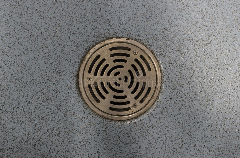 Round drain royalty free stock photography