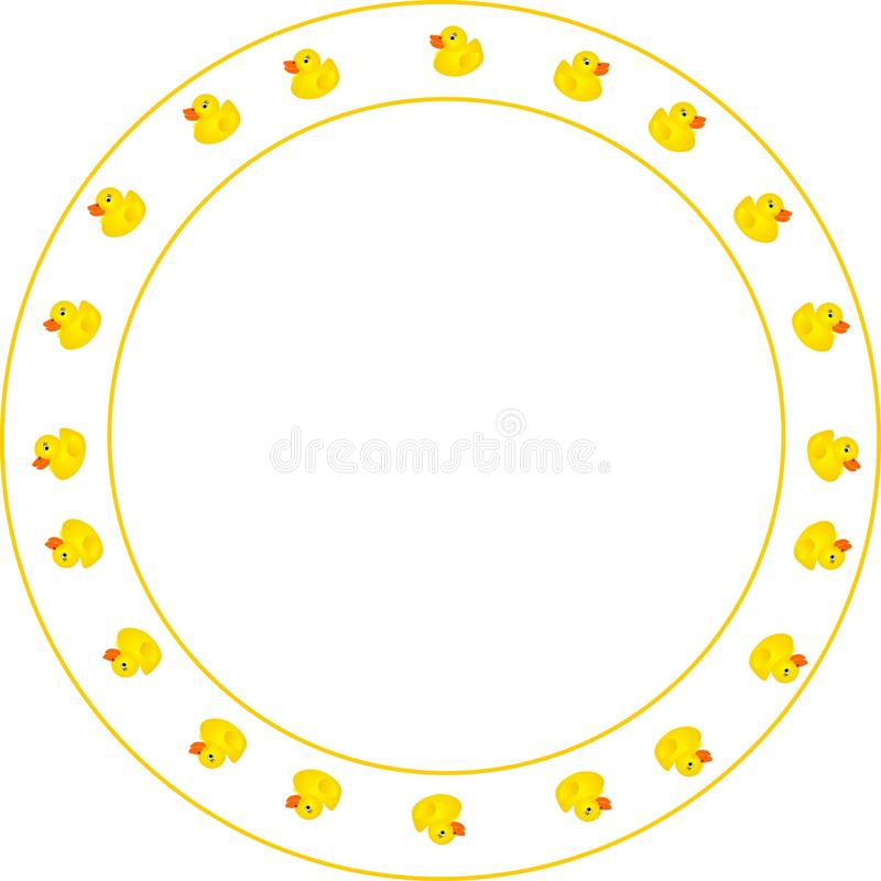 Free Round Ducky Design Border Royalty Free Stock Photography - 10780107