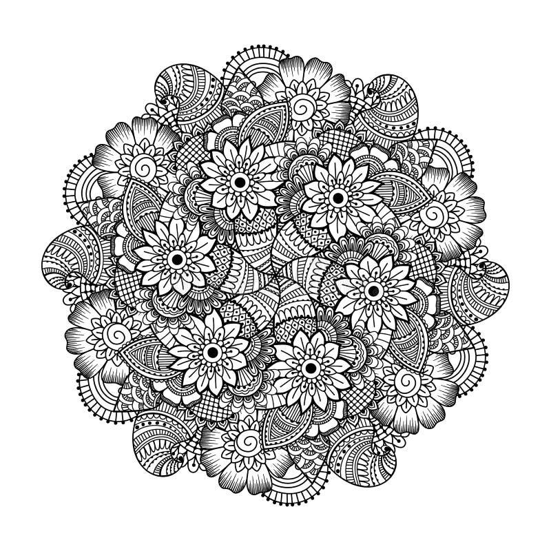 Round element dla kolorystyki książki royalty ilustracja
