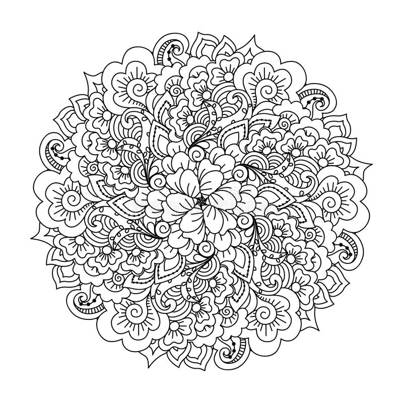 Round element dla kolorystyki książki ilustracji