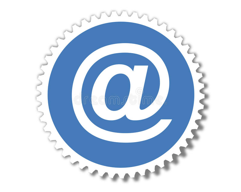 Round email stamp royalty free illustration