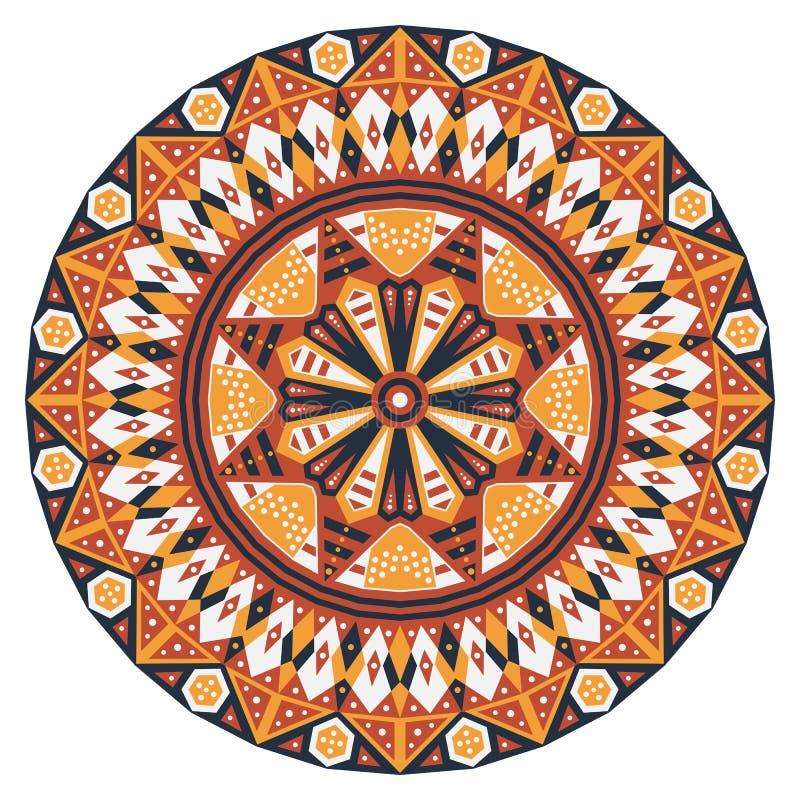 Round etniczny wzór zdjęcie royalty free