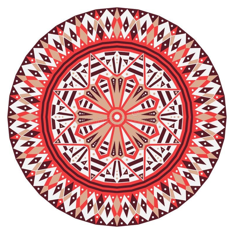 Round etniczny wzór zdjęcie stock