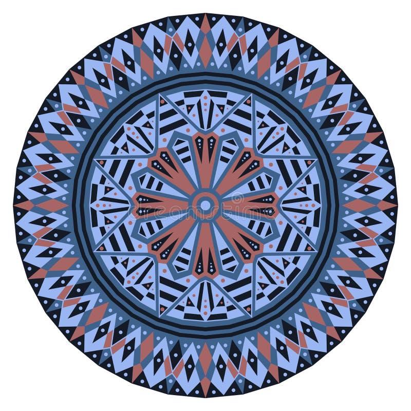 Round etniczny wzór obraz royalty free