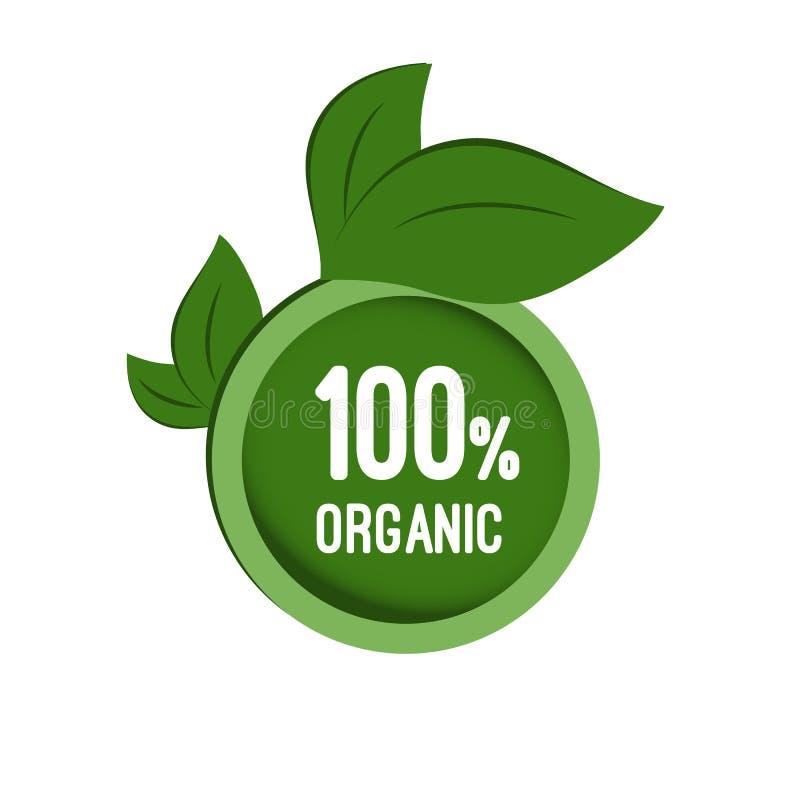 Round etykietka organicznie ilustracja wektor