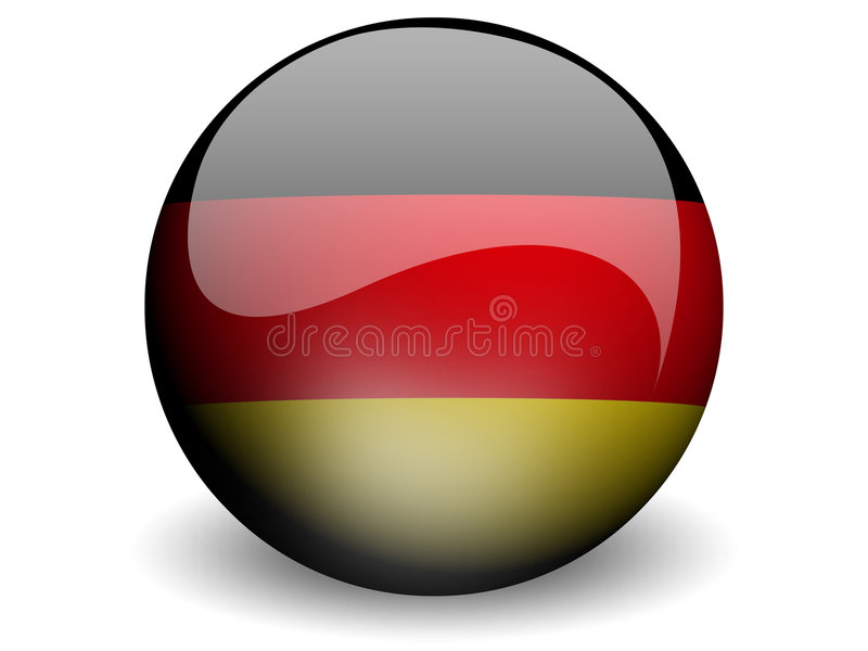 Round Flag of Germany. With Glossy Effect vector illustration