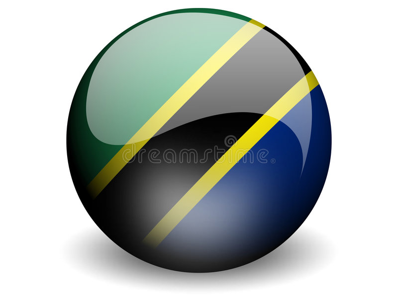 Round Flag Of Tanzania Stock Photo