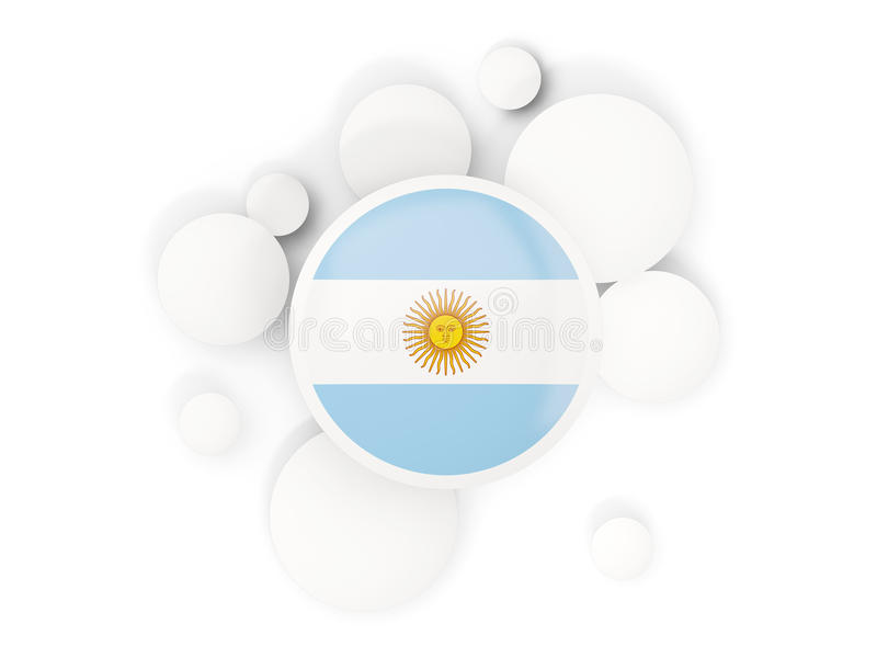 Round flaga Argentina z okręgu wzorem ilustracja wektor