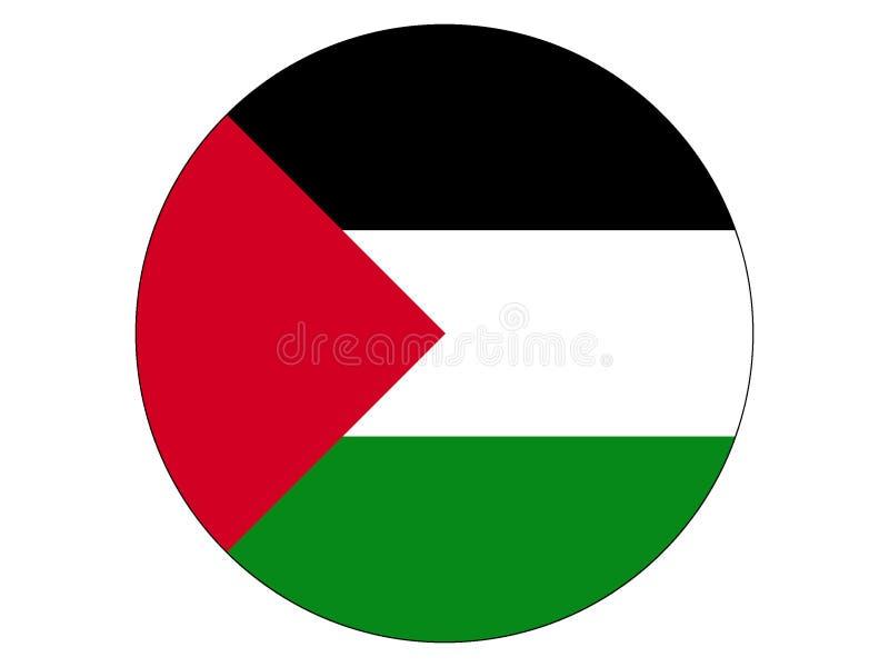 Round flaga Palestyna ilustracja wektor
