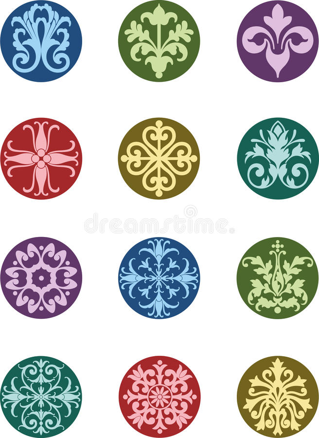 Download Round Floral Ornaments stock vector. Image of ornamental - 20557021