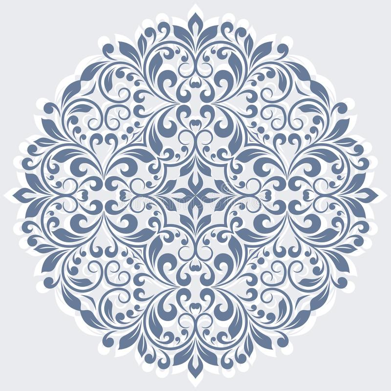 Round floral pattern. royalty free illustration