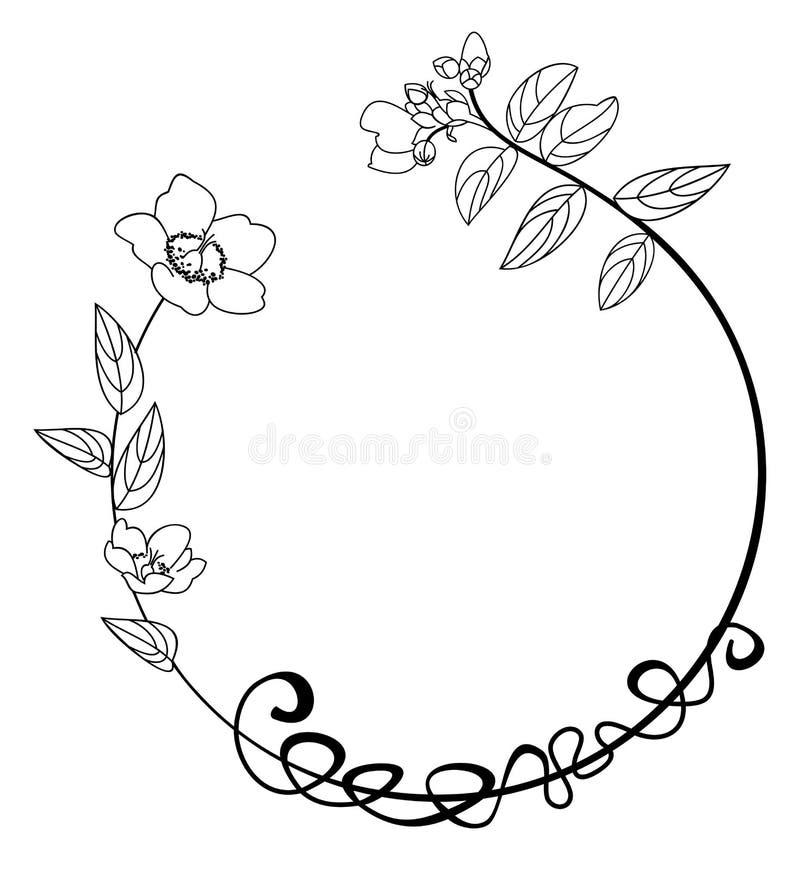 Download Round Flower Frame Stock Vector Illustration Of Ornament