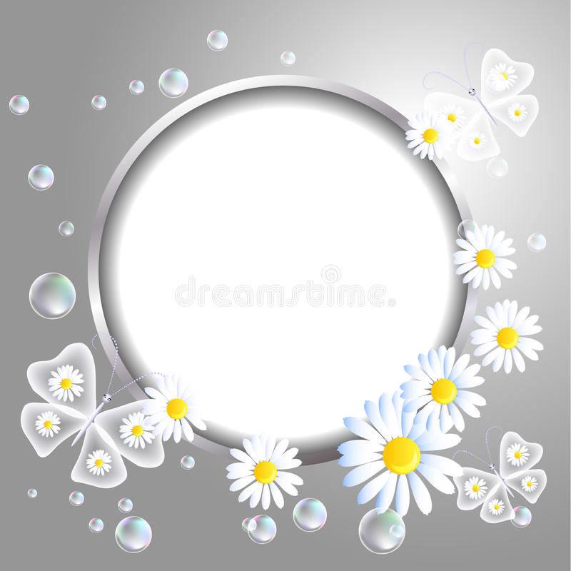 Free Round Frame And Daisy Stock Photography - 32329192