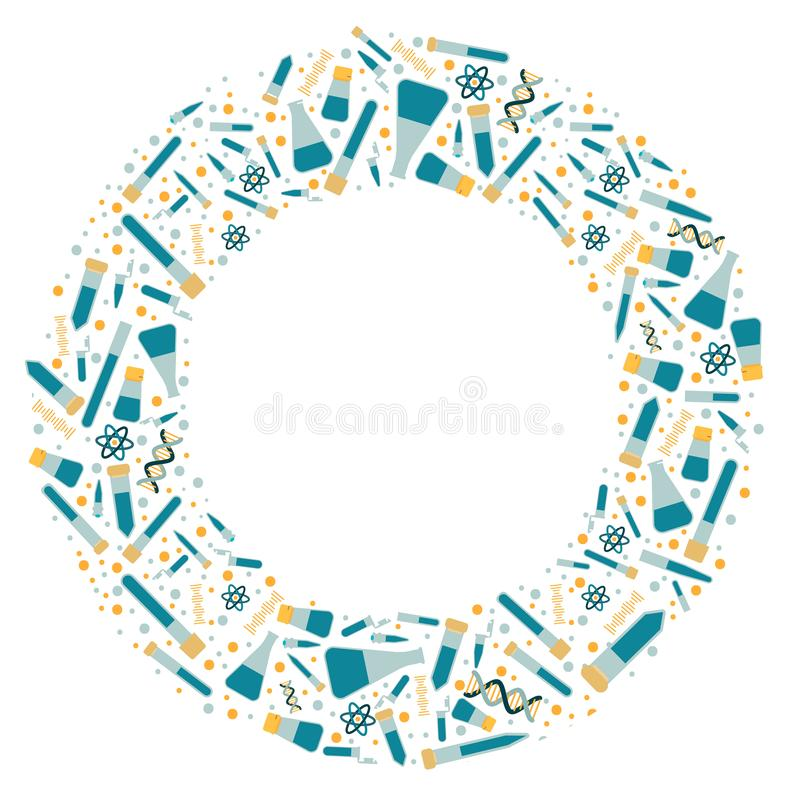 Round frame labware. royalty free illustration