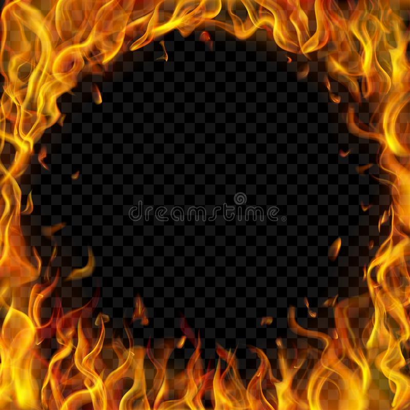 Round frame made of fire royalty free illustration