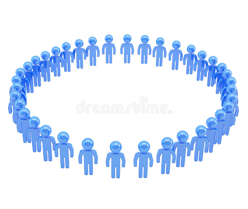 Round Frame Made Of Group Of Symbolic People Stock Illustration ...