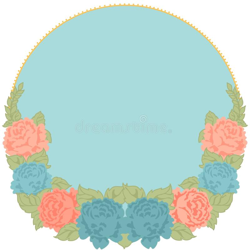 round frame without text with flowers stock images