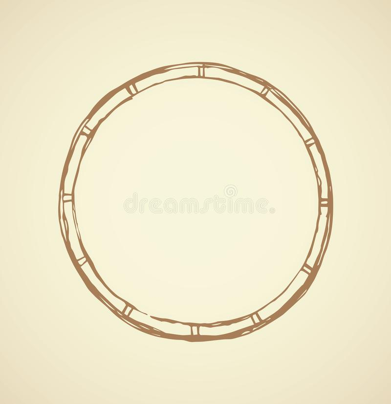 Round frame. Vector drawing royalty free illustration