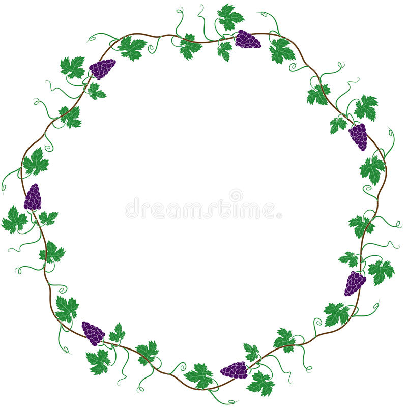 Round frame of the vine royalty free illustration